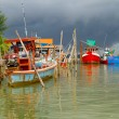 Fishing boats at the river in Koh Kho Khao — Stock Photo
