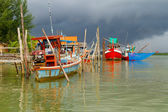 Fishing boats at the river in Koh Kho Khao — 图库照片