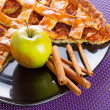 Apple pie with cinnamon — Stock Photo