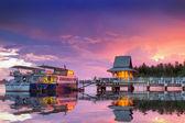 Tayland limanında muhteşem günbatımı — Stok fotoğraf