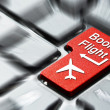 Stock Photo: Book flight button