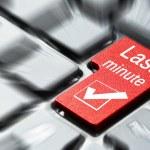 Last minute button — Stock Photo