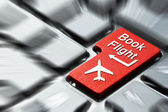 Book flight button — Stock Photo