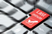 Tlačítko last minute — Stock fotografie