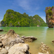 Ko Tapu rock on the Phang Nga Bay in Thailand — Stock Photo