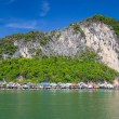 Koh Panyee fisherman village on the water of Phang Nga Bay — Stock Photo