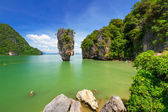 Ko Tapu rock on the Phang Nga Bay in Thailand — Stock Photo