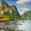 Stock Photo: Koh Panyee settlement built on stilts in Thailand