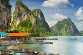 Koh Panyee settlement built on stilts in Thailand — Stock Photo