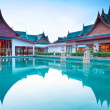 Oriental architecture of Andaman Princess Resort & SPA. - Stock Photo