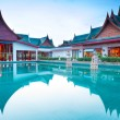 Oriental architecture of Andaman Princess Resort & SPA. - Stock fotografie