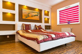 Modern master bedroom interior — Stock Photo