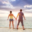 Watching together sunset at the ocean — Stock Photo #21905281