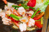 Thai dish with king prawns — Stock Photo