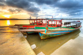Fishing boats at the river in Koh Kho Khao, Thailand — Stock Photo