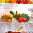 Fridge full of healthy food — Stock Photo