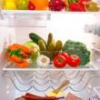 Fridge full of healthy food — Stock Photo