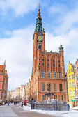Architecture of old town in Gdansk, Poland — Stock Photo