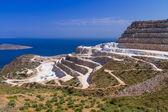 Quarry on the coast of Crete — Stock Photo