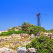 Scenery of Crete with windmill — Stock Photo