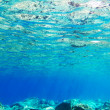 Underwater background of Aegean Sea — Stock Photo