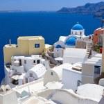 Architecture of Oia village on Santorini island — Stock Photo #22999796