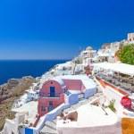 Architecture of Oia village on Santorini island — Stock Photo #22999852