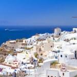 Architecture of Oia village on Santorini island — Stock Photo #22999906