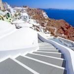 Architecture of Oia village on Santorini island — Stock Photo #22999952