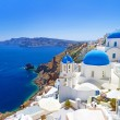 Stock Photo: Architecture of Oia village on Santorini island