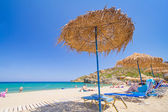 Relax on Vai beach of Crete, Greece — Stock Photo