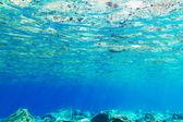 Underwater background of Aegean Sea — Stock Photo