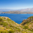 Stock Photo: Turquise water of Mirabello bay with Spinalongisland