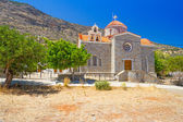 Small Greek church on the coast — Stock Photo