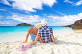 Idyllic holidays together — Stockfoto