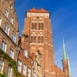 St. Mary's Church in old town of Gdansk — Stockfoto
