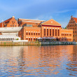 Stock Photo: Baltic Philharmonic in Gdansk at Motlawriver
