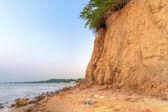 Orlowo cliff at Baltic sea — Stock Photo