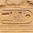 Stock Photo: Hieroglyphic of pharaoh civilization in Karnak temple