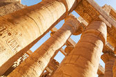 Pillars of the Great Hypostyle Hall in Karnak Temple — Stock Photo