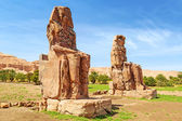 The Colossi of Memnon in Luxor, Egypt — Foto de Stock