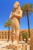 Statue of Ramesses II in Karnak temple of Luxor — Stock Photo