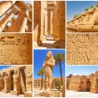 Collage of Karnak architecture in Luxor — Stock Photo