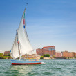 Felucca on the Nile river in Luxor — Stock Photo