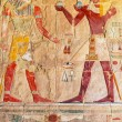 Stock Photo: Relief on wall of Queen Hatshepsut Temple