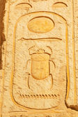 Scarab hieroglyph in the Temple of Queen Hatshepsut — Stock Photo