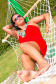 Relax on the hammock — Foto de Stock
