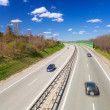 Cars on the highway near Gdansk in sunny day — Stock Photo