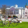Stock Photo: Spring time on square in Sopot, Poland