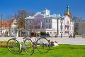 Spring time on the square in Sopot, Poland — Stock Photo
